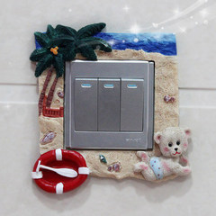 Europe feast creative home protection cover, resin socket affixed decorative power, Korean light switch Stickers Wall Stickers modern