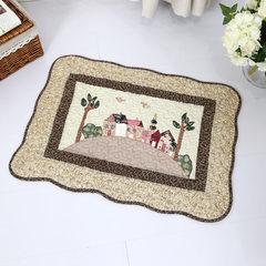 PMO River bath door doormat cushion, mat mat, garden carpet, floor mat, bathroom antiskid mat about 450mm× 650mm fairy tale house coffee color.