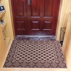 Huidou door mat floor mat carpet anti-skid door mat anti-skid carpet diamond-shaped coffee 80x115cm