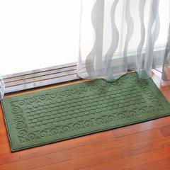 Door mat foot mat porch door dust mat kitchen strip mat bathroom door anti-skid carpet 50× 110cm grid cyan