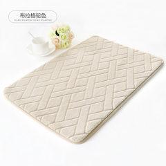 Memory cotton slow rebound mat bathroom floor mat bathroom mat doormat absorbent carpet, kitchen slippery mat bedside blanket 45x120CM Prague Camel