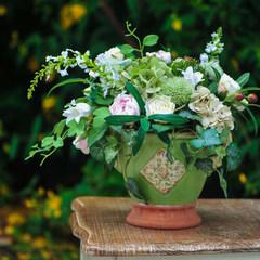 [CHIC ROSE] green high-quality American decorative vase of flower vase ears Green flower