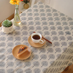 Shipping Japanese minimalist art fresh plain linen tablecloths table cloth printing plant garden tablecloth 80*80cm