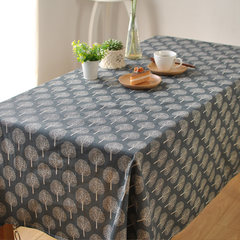 With Japanese style and simple and minimalist blue small pine linen tablecloths napkins cloth art fresh pictures tablecloth 80*80cm