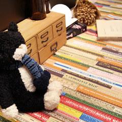 [studio] Lu Le modern personality creative ruler, pattern tablecloth, table cloth, living room, coffee table cloth, cloth art customization 2047. Lu Yue Custom made. Please contact customer service