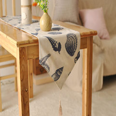 Mediterranean style double bed table runner ocean wind flag original textile Home Furnishing table cloth Fresh sea breeze 90+17 vertical *160cm