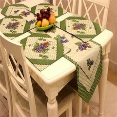 Pick wei American country table flag tablecloth table cloth cushion cloth art Mediterranean table flag table mat rural table towel cloth cover table towel cabinet towel grapes are made to order not to return or change, change the price under the auction