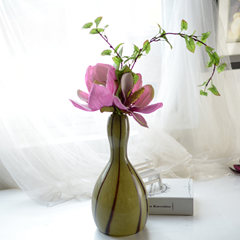 Export of green handmade glass vases, home flower device, soft decoration flower set, American style gift Floral Suite