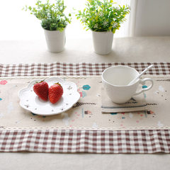 Korean lattice tower mosaic British style table cloth gift can be customized double C British style 90+17 vertical *160cm