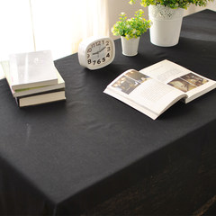 Cotton cloth simple modern fashion color black cloth cloth can be customized Western-style food cafe tablecloth 80*80cm