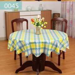 PVC family plastic table cloth hotel large round table cloth hotel round table cloth water, oil, no washing, no ironing wave edge 0045 table cloth diameter 180cm