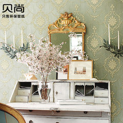 3D super stereo hand relief non-woven fabric wallpaper living room TV background wall Damascus European style wallpaper Seven thousand and five Wallpaper only