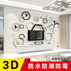 Modern simple 3D 3D fresco, living room sofa, TV background, wall paper, seamless large bedroom film and television wallpaper High light silk cloth 128 per square (seamless)