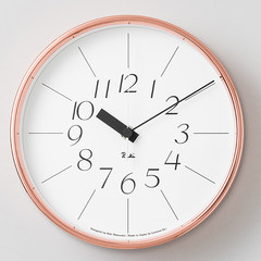 Bai Fei furniture Japan Lemnos copper watch bedroom modern minimalist living room wall clock clock mute