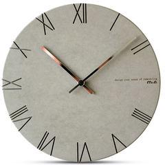 Mandelda modern and simple European style Rome creative clock clock digital round clock room mute quartz clock 12 inches