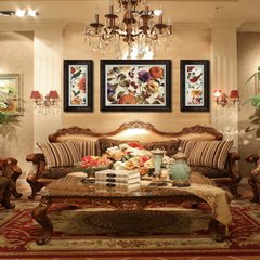 The living room decorative painting American sofa backdrop Peony Restaurant bedroom entrance mural rich Zhengchun Single purchase contact customer service price Environmentally friendly polymer materials Home brand originality