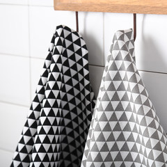 Creative home tablecloth table cloth cotton insulation cloth napkin cloth cloth posing geometric props Black geometry cloth 70*50 wide centimeter 70*50cm