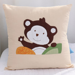 A special offer of cotton embroidered cartoon foreign end of a single thin children lovely pillow pillowcase by mail package 40X40cm by pillow case Beautiful monkey