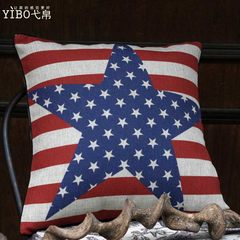 The high-end / European classic American country natural linen pillow cushion British Jack to do the old series 45x45cm cushion cover (without core) The star of the swastika