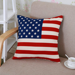 The M word flag British style pillow case containing core sofa cushion back office by car on the waist cushion Large square pillow: 50X50cm Stars in America