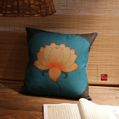 [original] Zen house cushion and pillow cotton linen sofa pillow and a cushion package by wind load Trumpet (45*24 cm) Core