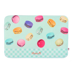 The French Macarons candy Shailuo cocoa creative Home Furnishing lattice original design cartoon sweet home mat Green mat 60x40cm