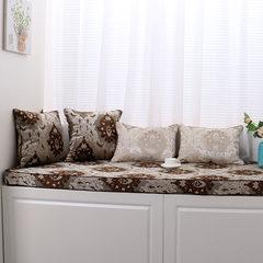 New pattern! Made of high-density sponge thickened linen, cotton, linen, window mat, window mat, cushion, sofa cushion, 12 cm sponge 180 yuan / square coffee color cut flowers.