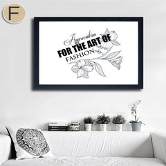 Simple black and white animal decorative painting abstract paintings framed painting Nordic restaurant wall painting, a combination of modern Home Furnishing 60*60 Simple white clean frame F Oil film laminating + low reflective organic glass