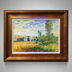 New European style oil painting house, living room oil painting, landscape oil painting, decorative oil painting, Monet autumn Mounting height 60* length 75 Other types Yayun copper gold According to the color under the delivery