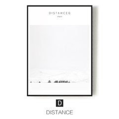 Remote poems, modern simple living room, decorative painting, bedroom, wall, wall, canvas, painting, creativity, ice and snow, fog in the mountains 73*103 34mm thick plate D DISTANCE A poem from afar: single price