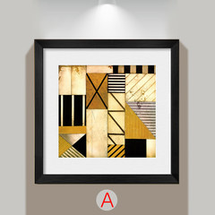 Living room adornment picture contemporary contracted hangs A picture 4 couplet to draw sofa background wall to draw dining-room abstract mural 150*150 contracted black wood grain frame A canvas to cover film + low reflection organic glass