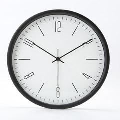 The Nordic minimalist modern family living room wall clock clock watch fashion Home Furnishing metal quartz clock round 14 inches Black 6 digital small scale version