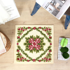 [export superior product] square polyester printing home mat, bathroom mat, bedside mat 46*46CM Safflower green leaves