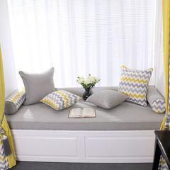 北欧风高级灰色高密度海绵飘窗垫窗台垫榻榻米沙发垫定制现代简约 20厘米海绵 300元/一平方 音乐之声灰色(纯色款)