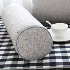Window mat, window mat, made of simple black and white cotton and hemp lattices, bedroom sofa cushion, balcony mattress, tatami, made 15 cm sponge 225 yuan / square sesame ash candy pillow.
