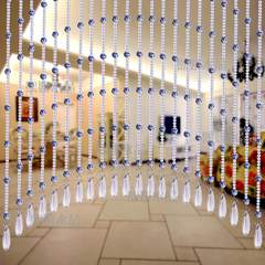 New style blue and white porcelain crystal pearl curtain partition porch garden door curtain close wear curtain adornment product 20 pieces are level 0.8 meters tall