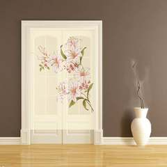 Custom painted decorative pattern cloth curtain bedroom air and water curtain partition cloth art decoration semi-hanging curtain purchase price [lily] other dimensions