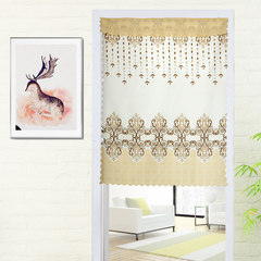 Send glue hook thick cloth art door curtain embroider sitting room a lot of contracted wind hangs curtain kitchen long partition dining-room shade half-curtain bedspread type European flower-coffee