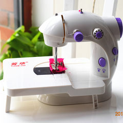 Fanghua 202 sewing machine, household mini sewing machine, motor table clothes cart, multi function portable mail Send gift packs plus original table