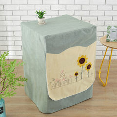 Thickened cylinder washing machine cover cloth art cygnet Dr. Herschemann samsung sanyo LG sunshade three sunflowers (sun protection waterproof style) table flag 30× 180 cm