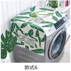 North European washing machine dust cover green leaf INS plant washing machine cover washer washer cover refrigerator cover cloth promotion cloth F table flag 30× 150 cm