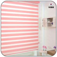 Imported double layer louen star shutters soft gauze shade shangri-la curtain partition shading door curtain rolling curtain wooden type 2d-a style/square meter