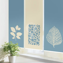 Aikaluo custom modern simple pull bead shade curtain pull rope curtain shutter living room partition study floor window leaf warp knitting cloth (semi-transparent soft partition) per square meter unit price