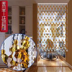 Feng shui gourd custom-made pearl curtain crystal curtain partition curtain crystal door curtain curtain living room hanging curtain porch curtain 40 * 1.8m high