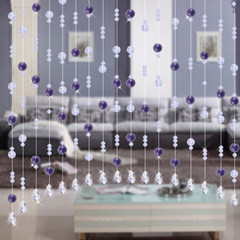 Crystal curtain partition finished product curtain crystal pearl curtain shoe cabinet porch door curtain screen line series hanging curtain transparency