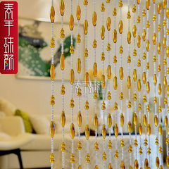 Gourd olive pearl curtain crystal partition finished curtain crystal curtain feng shui door curtain hanging curtain living room decoration porch curtain ordinary color order 5.8 yuan/m