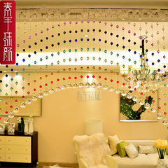 Plain hand pearl face rainbow arched crystal pearl curtain characteristic corridor porch decorative curtain 40 * arched (95/50)
