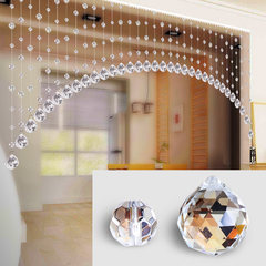 Crystal pearl curtain sitting room porch decorative curtain partition curtain air curtain bedroom crystal arch door curtain half hanging curtain envelope common color: arch 20