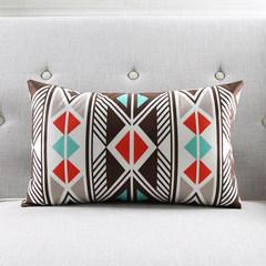 Pinecone house Nordic striped zebra sofa pillow cushions soft skin-friendly super soft fabric waist pillow large size (55*30 cm) CH142 waist pillow