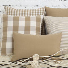 Simple Nordic light coffee pillow cushion cushion sofa IKEA Plaid pillow set with the core of modern 50X50cm (containing core) Light coffee stripe